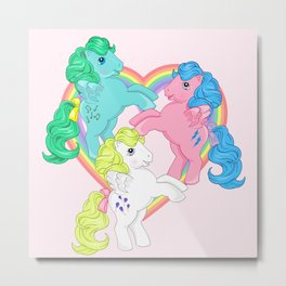 g1 my little pony pegasus Metal Print