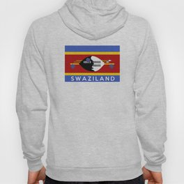 Swaziland country flag name text Hoody