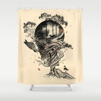 forest Shower Curtains featuring Lost Translation by nicebleed