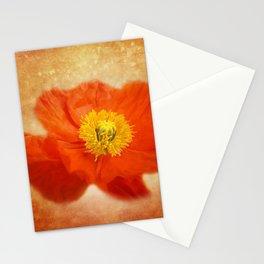 poppy blossom on orange Stationery Cards