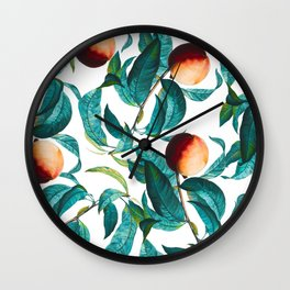 Fruit and Leaf Pattern Wall Clock