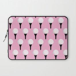 Golf Ball & Tee Pattern (Pink) Laptop Sleeve