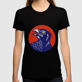 Hawk Head Looking Up Circle Retro T-shirt