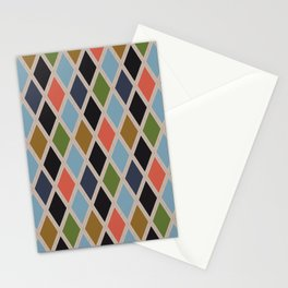 Simple Diamond Plaid in Fantastic Output Stationery Cards