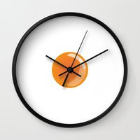 egg Wall Clocks featuring Egg by Rodrigo Rojas