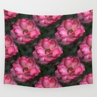 peonies Wall Tapestries featuring Peonies and more Peonies... by Cherie DeBevoise