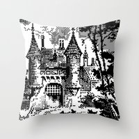 castle Throw Pillows featuring Castle by noirlac