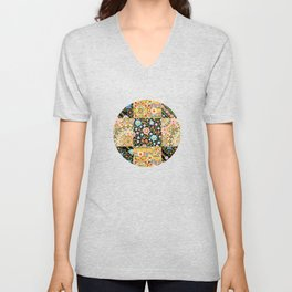 Crazy Crazy Printed Patchwork Unisex V-Neck