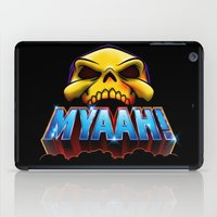 skeletor iPad Cases featuring MYAAH! by Aaron Synaptyx Fimister