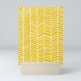 Herringbone – Yellow Palette Mini Art Print