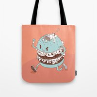 burger Tote Bags featuring Burger by BIGMOUTH