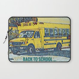 Back to School - The Yellow School Bus Laptop Sleeve
