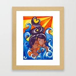 Two Lovers of Guam Framed Art Print