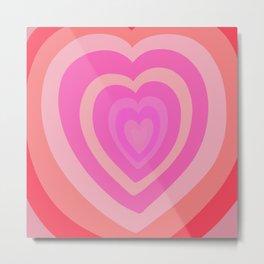 Love Me Like You Do - peach red Metal Print