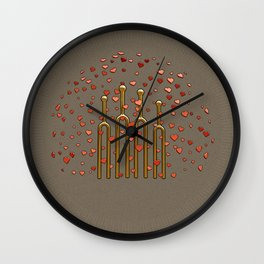 Family in Harmony - Famille en Harmonie Wall Clock