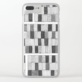 New York Streetscape (black and white) Clear iPhone Case