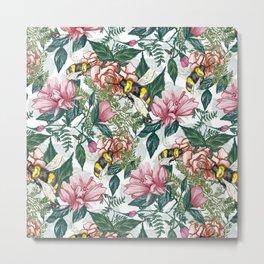 Spring Bee(White) Metal Print