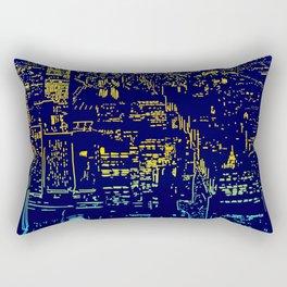 Chicago city lights at night Rectangular Pillow