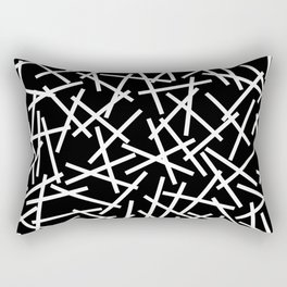 Kerplunk Black and White Rectangular Pillow