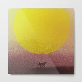 Dog Way Sun Metal Print