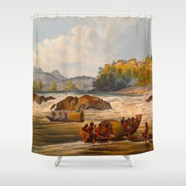 Brazilian Fort St Cabriel Illustrations Of Guyana South America Natural Scenes Hand Drawn Shower Curtain