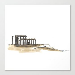 Greek Temple Ruins Canvas Print