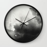 blur Wall Clocks featuring blur by lars  ojala harkanen