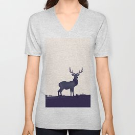 Stag ink Unisex V-Neck