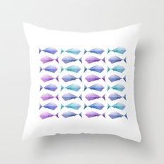 Fish tile Throw Pillow