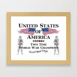 World War Champions Framed Art Print