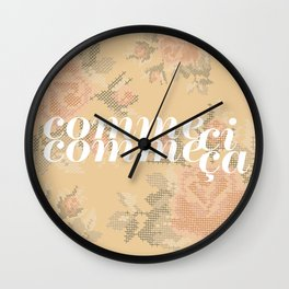 Comme Ci Comme Ca Wall Clock