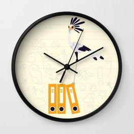 Secretary Bird - v2 Wall Clock