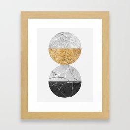 Geometric texture V Framed Art Print