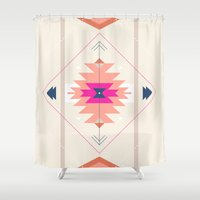 kilim Shower Curtains featuring Kilim Inspired by Nayla Smith