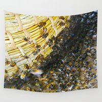 bees Wall Tapestries featuring Bees! by Creative Lore