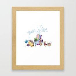 Yarn Love Framed Art Print