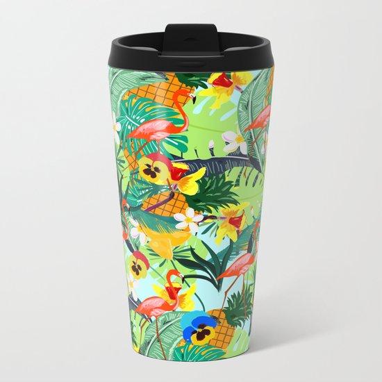 Tropical III Metal Travel Mug