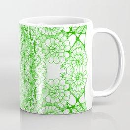 Green Zentangle Tile Doodle Design Coffee Mug