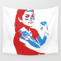 feminism Wall Tapestries featuring Feminism by DebbieHughes