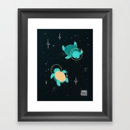 Space Turtles Framed Art Print
