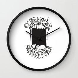 screaming infidelities Wall Clock
