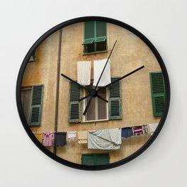 Hanging laundry Wall Clock