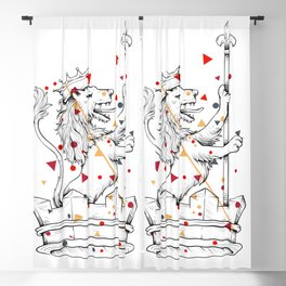 Crown Herald Lion KINGDOM Blackout Curtain