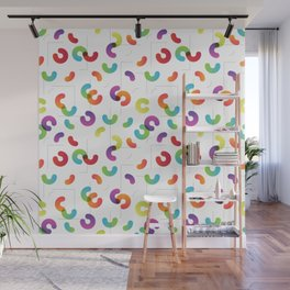 Funny color design. Arcs and Lines #1 Wall Mural