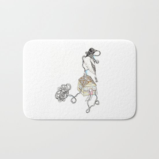 Untitled Crow Bath Mat