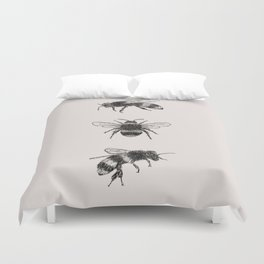 Three Bees Duvet Cover