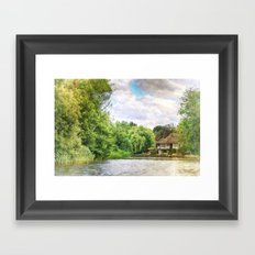 House By The River 2 Framed Art Print