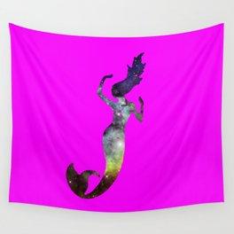 Galaxy Mermaid 2 (Pink) Wall Tapestry