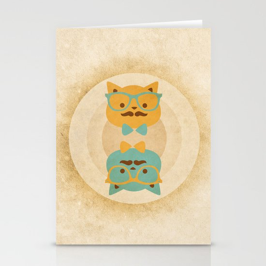 Vintage cats Stationery Cards