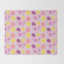 Pressed Flowers Throw Blanket